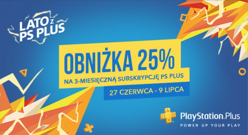 Obniżka 25% na 3-miesięczną subskrypcję PS Plus