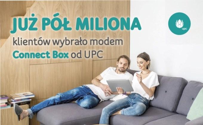 Już pół mln klientów wybrało modem Connect Box od UPC