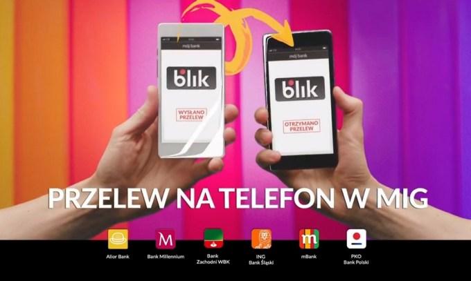 BLIK BLIK przelew na telefon w mig (kampania 2018)