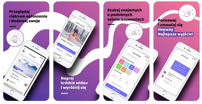 Zrzuty ekranu aplikacji Heyway na iOS-a