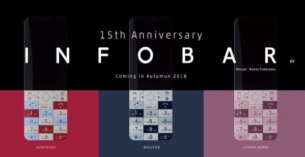 Oto INFOBAR xv, który obsłuży część aplikacji na Androida