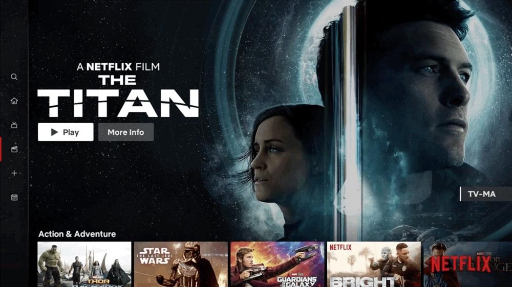 Nowy interfejs aplikacji Netflix na TV