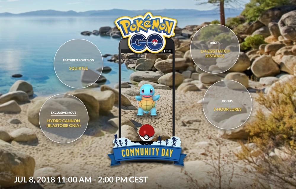 Pokemon GO Community Day 8 lipca 2018 (11.00-14-00)