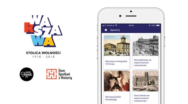 """Aplikacja mobilna """"Wasza Warszawa"""" na 100-lecie niepodległości"""