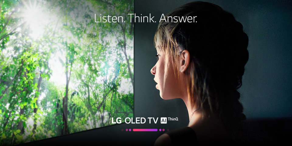 Listen. Think. Answer. LG OLED TV AI ThinQ