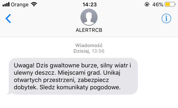 Czym jest SMS od ALERTRCB?