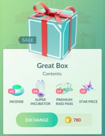 Great Box on sale Pokemon GO (8/2018)