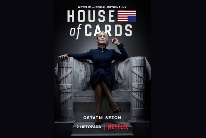 """House of Cards"" (plakat 6. sezonu serialu)"