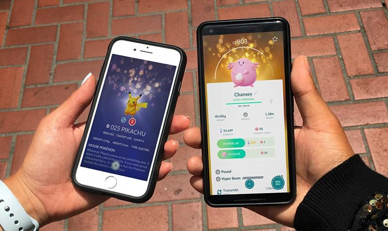 Lucky Pokemon podczas wymian w grze