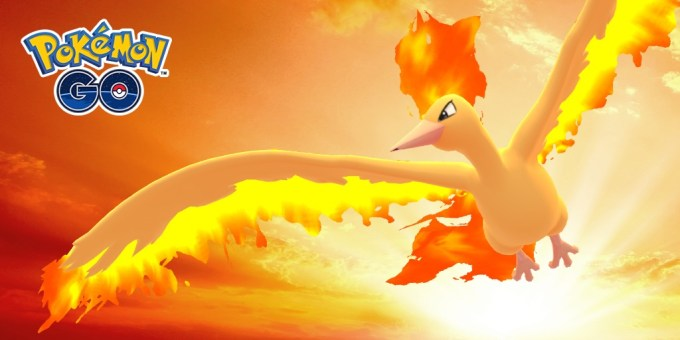 Moltres Day 2108 w grze Pokemon GO