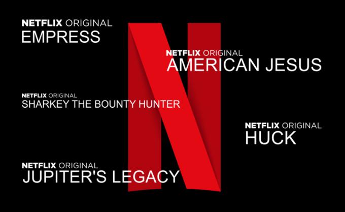 Produkcje Netflixa na podstawie dzieł Marka Millara (tytuły filmów i seriali)