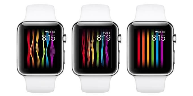 Tarcza Apple Watcha (Pride)