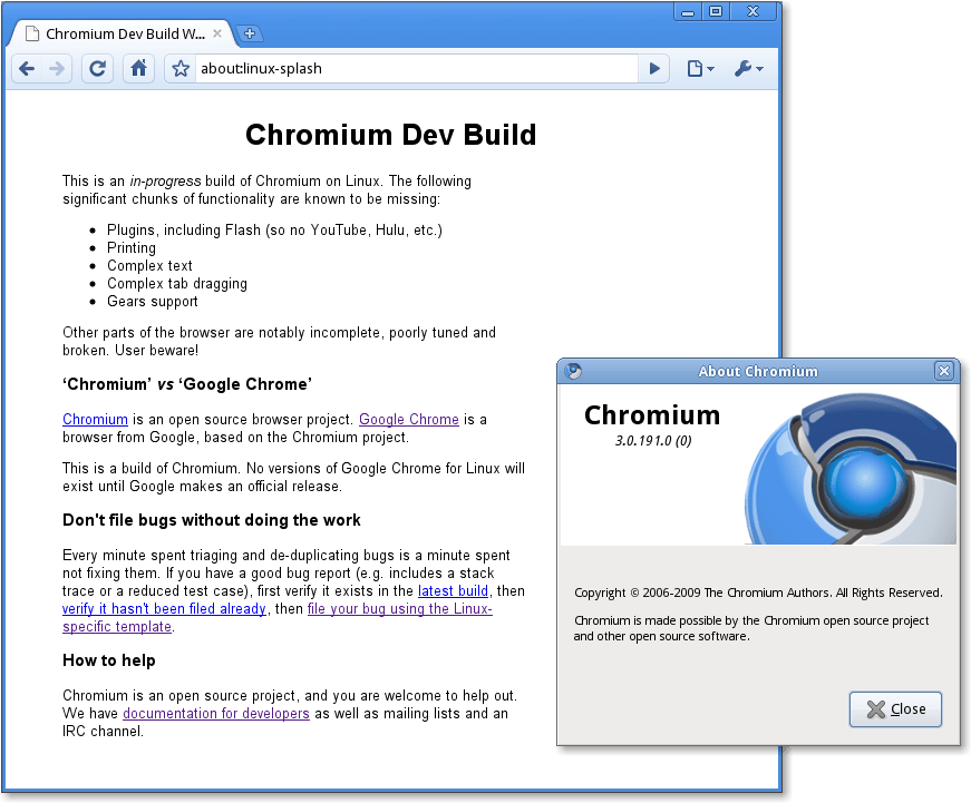 Chrome 3.0 (Linux)
