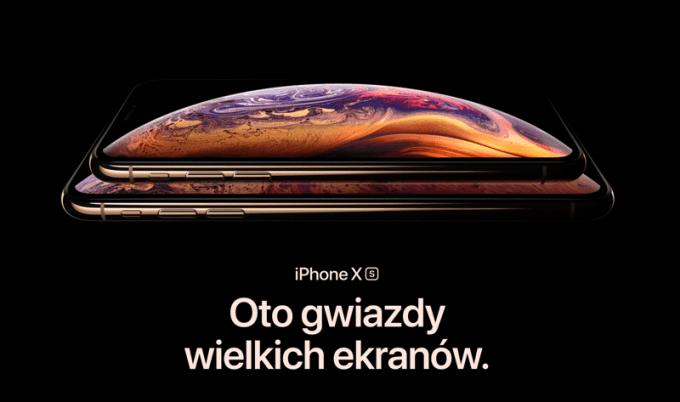 iPhone Xs i iPhone Xs Max (oficjalne zdjęcie Apple)