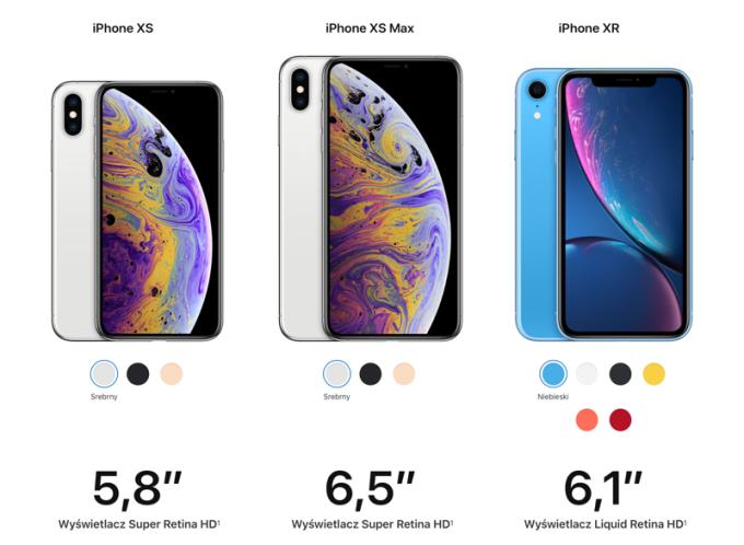 Porównanie modeli iPhone'ów z 2018 r. (Xs vs. Xs Max vs. Xr)