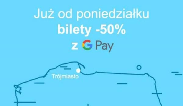 Bilety w JakDojadę 50% tańsze z płatnościami Google Pay