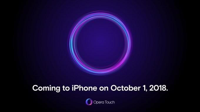 Zapowiedź przeglądarki mobilnej Opera Touch na iPhone'a (1 października 2018 r.)