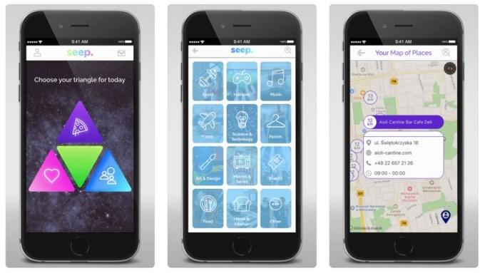 Screen z aplikacji mobilnej Seep. (iOS/Android)
