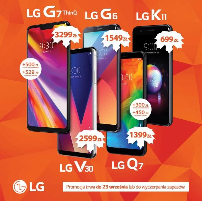 Smartfony LG w promocji Smart Wrzesień 2018