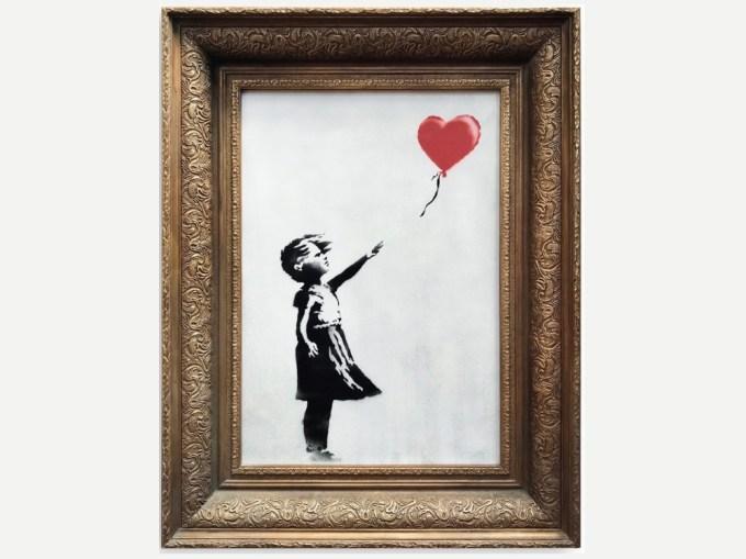 """""""Dziewczynka z balonikiem"""" Banksy (fot. Sotheby's)"""