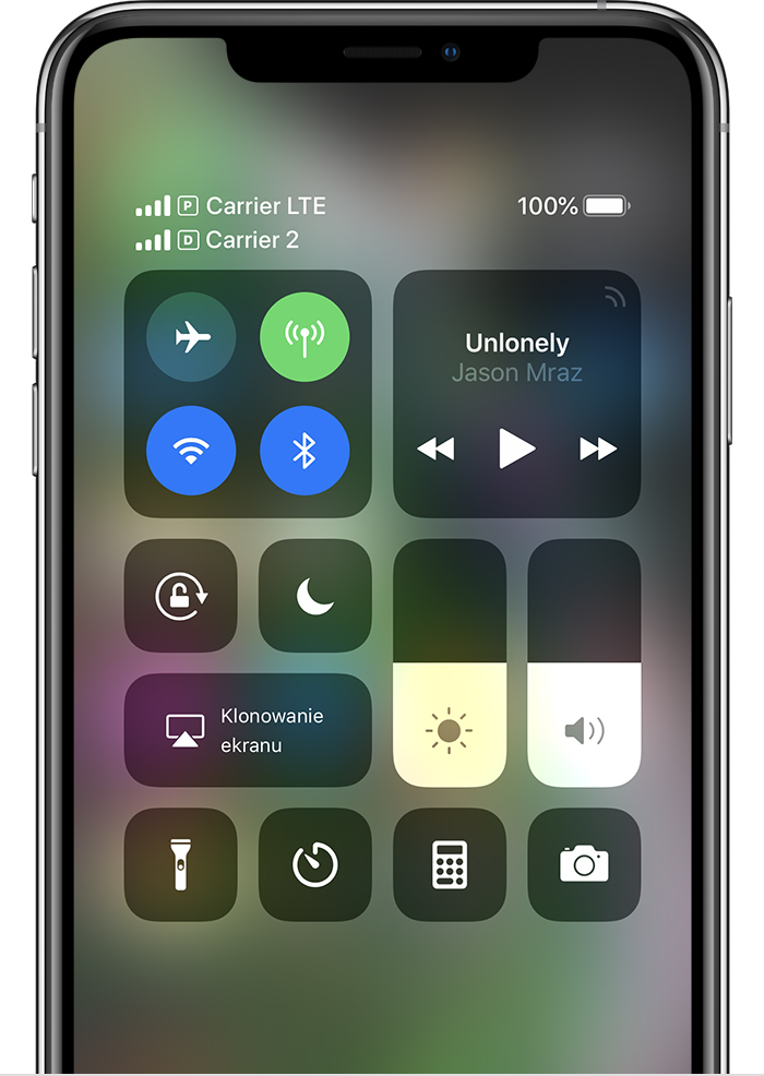 Dual SIM w Centrum Sterowania pod systemem iOS 12
