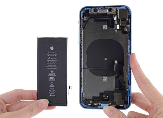 Bateria iPhone'a XR