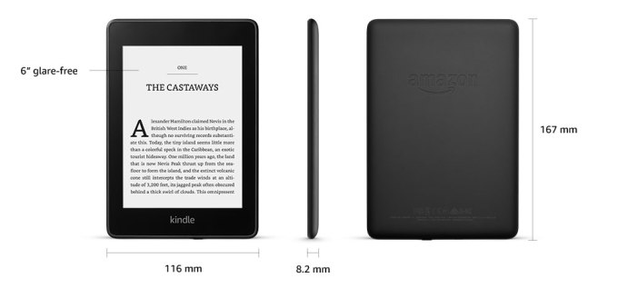 Kindle Paperwhite 4 (wymiary)