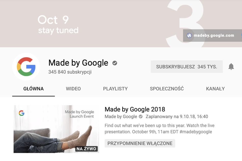 Zrzut ekranu z oficjalnego kanału made by Google na YouTube'ie