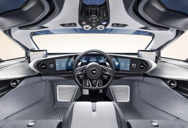 McLaren Speedtail (wnętrze samochodu)