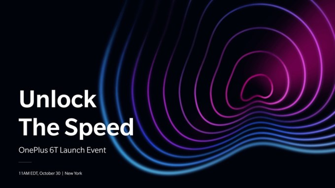 Unlock The Speed - OnePlus 6T Launch Event 30 Oct 2018