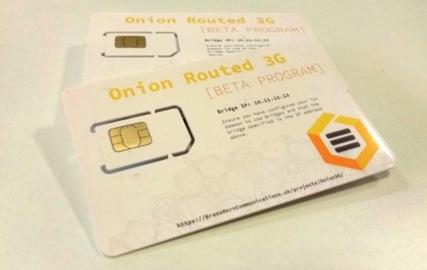 Karta SIM Onion3G pozwala korzystać z internetu przez Tora