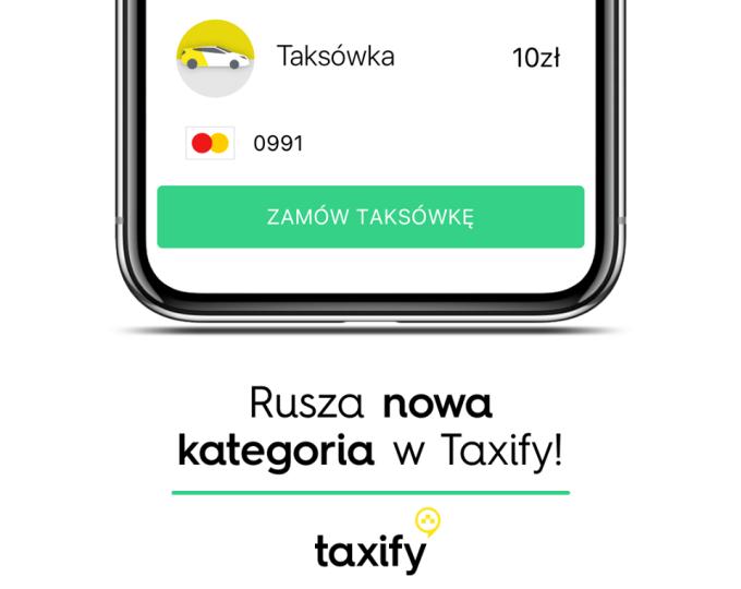 Opcja Zamów taksówkę w aplikacji Taxify