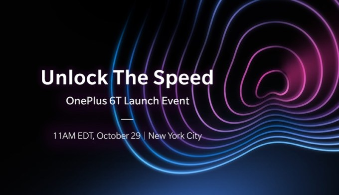 OnePlus 6T – Unlock The Speed, zostanie zaprezentowany 29 października 2018 r.