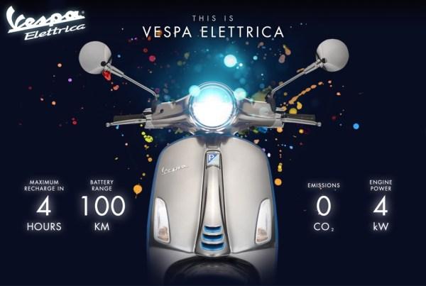 Pierwsza elektryczna Vespa Elettrica za ponad 7000 USD!