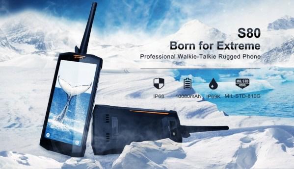 Doogee S80 nowy pancerny smartfon z cyfrowym walkie-talkie