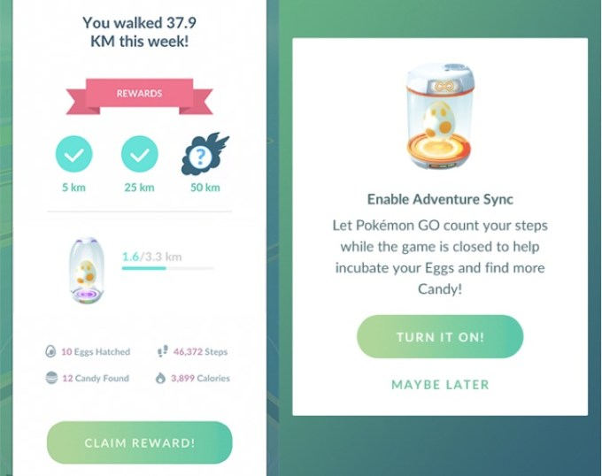 Adventure Sync i nagrody w Pokemon GO