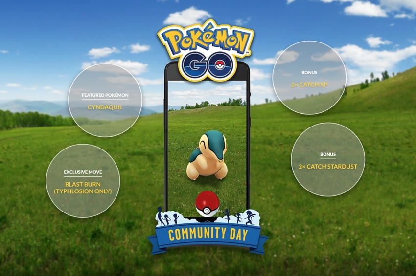 Pokemon Go - Community Day – Cyndaquil (10.11.2018)