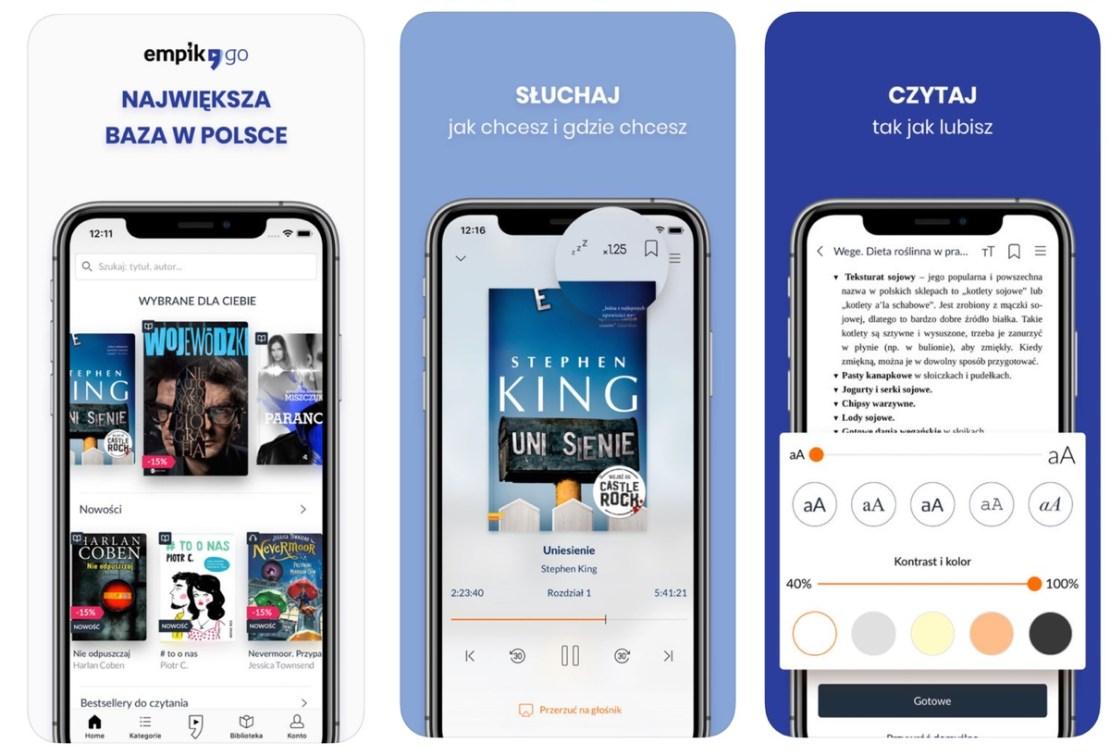 Screen z aplikacji EmpikGO