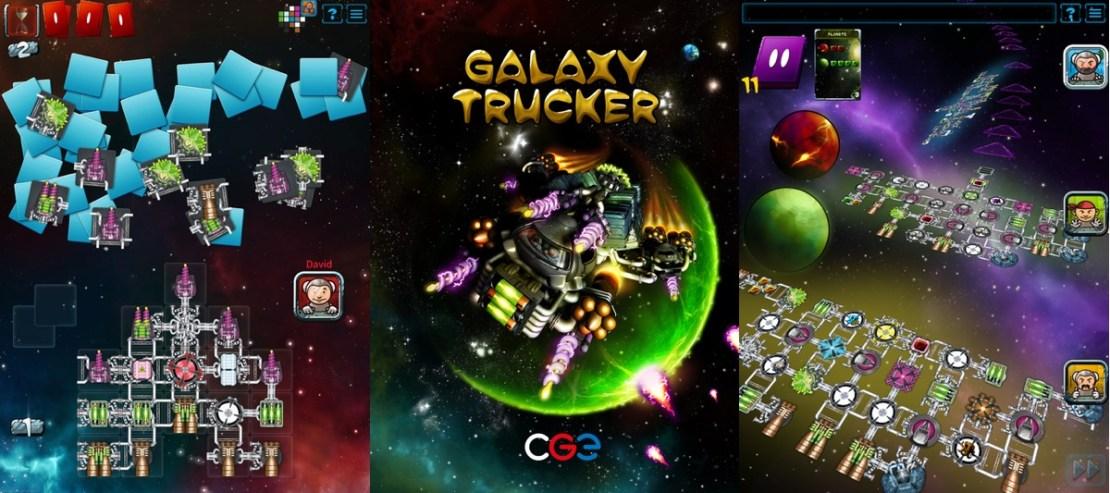 """Zrzuty ekranu z gry mobilnej """"Galaxy Trucker"""""""