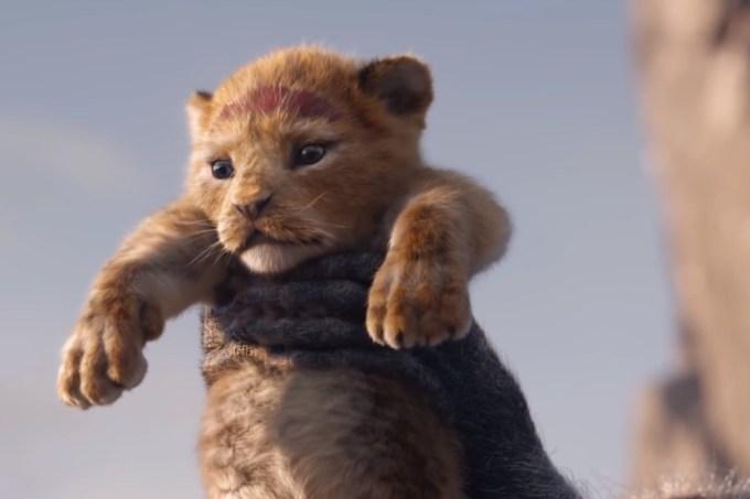 Kadr z remake'u filmu Król Lew - Simba