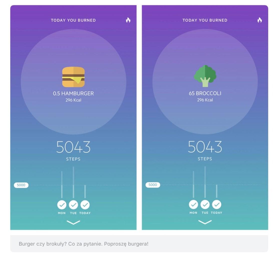 Zrzuty ekranu z aplikacji mobilnej Movesum