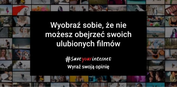 Specjalna sekcja o art. 13. na YouTube'ie #SaveYourInternet