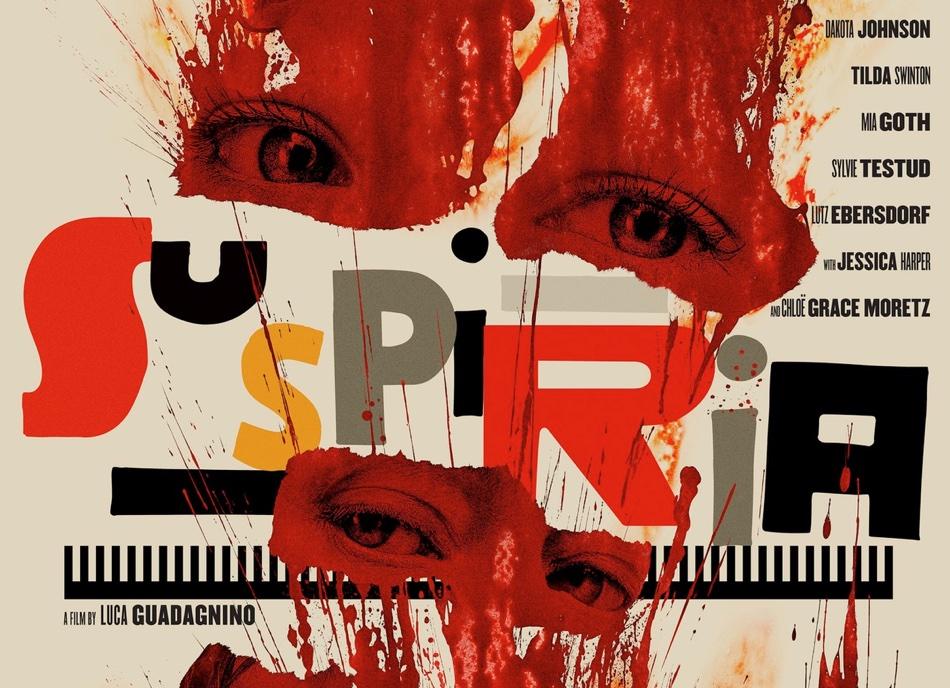"Fragment plakaty filmu ""Suspiria"" (2018, Luca Guadagnino, Amazon Studios)"