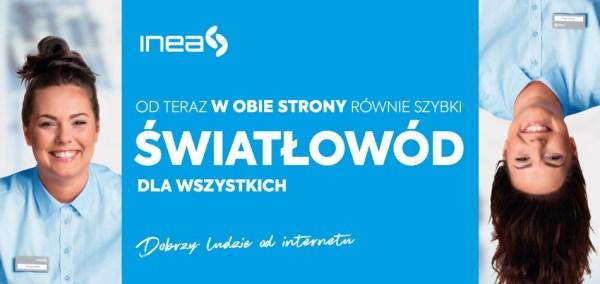 INEA wprowadza symetryczne łącze internetu światłowodowego