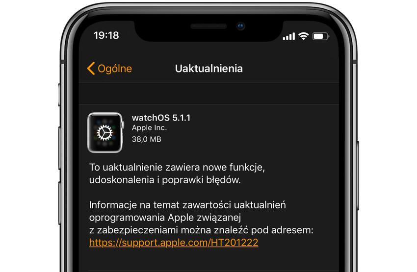 watchOS 5.1.1 update