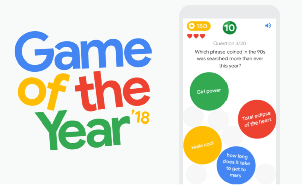 """Game of the Year"" 2018 Google'a wspomina mijający rok"