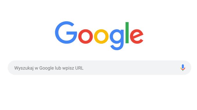 Zaokrąglony pasek wyszukiwania Google