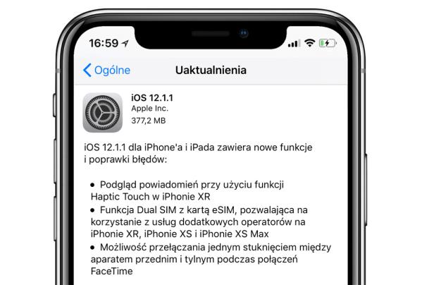 iOS 12.1.1 dostępne do pobrania – sprawdź wszystkie nowości!