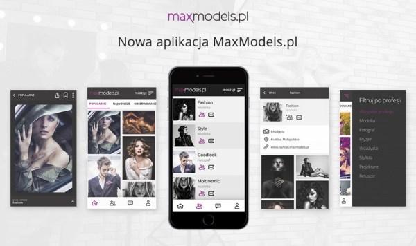 Społeczność MaxModels w aplikacji mobilnej na Androida i iOS-a