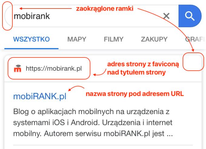 Nowy wygląd w wynikach wyszukiwania Google